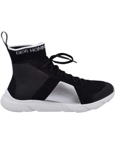 Czarne skarpety sznurowane Dior