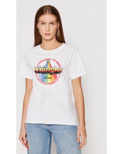 Biała t-shirt Wrangler