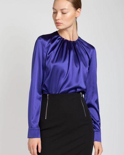 Блузка с длинным рукавом шелковая большой Vassa&co