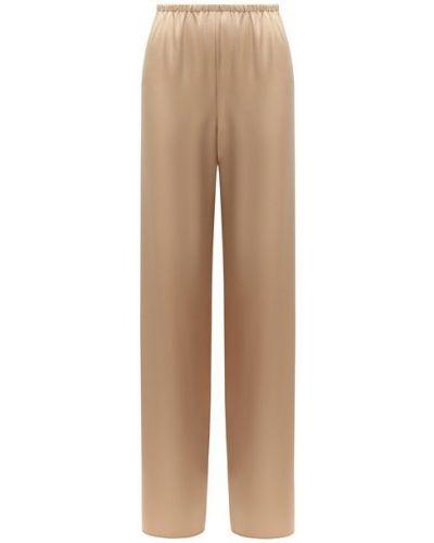 Золотистые брюки с поясом золотые St. John