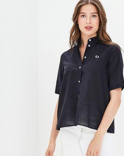 Черная рубашка с коротким рукавом Fred Perry