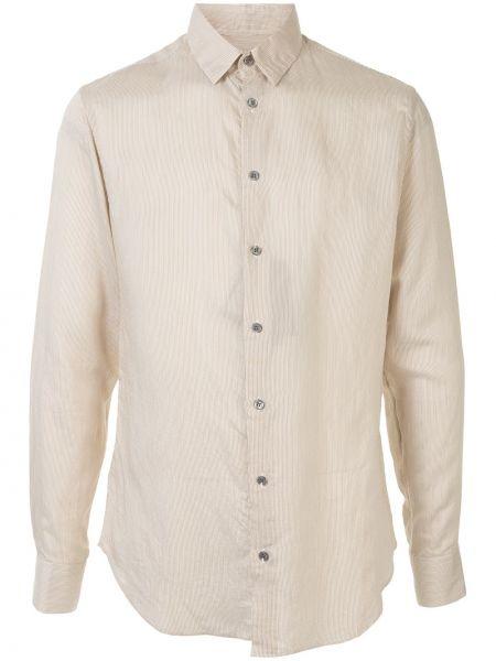 Koszula z długim rękawem klasyczna w paski Giorgio Armani