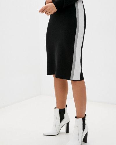 Черная прямая юбка карандаш Baon