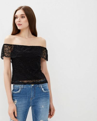 Черная блузка кружевная Befree