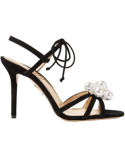 Czarne włoskie sandały Charlotte Olympia