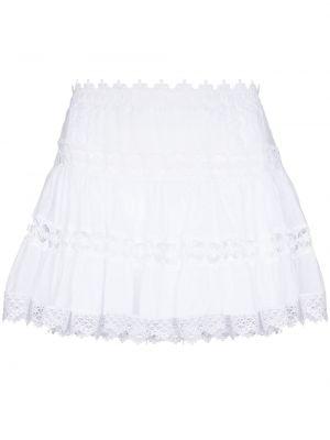 Белая юбка мини с завышенной талией Charo Ruiz Ibiza