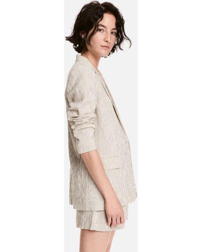 Пиджак с карманами - бежевый H&m
