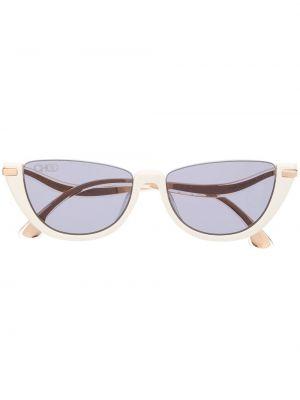 Белые солнцезащитные очки Jimmy Choo Eyewear