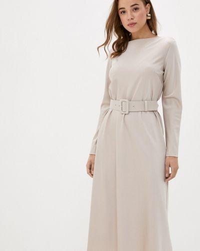 Прямое бежевое платье Y.o.u.