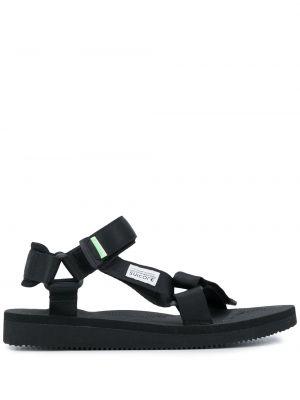 Sandały płaskie bez obcasa - czarne Suicoke