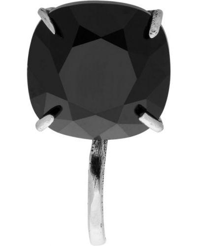 Серьги серебряные черный Alexander Mcqueen
