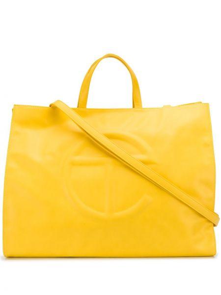 Żółta torba na ramię bawełniana Telfar