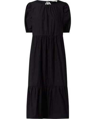 Sukienka rozkloszowana - czarna Tom Tailor Denim