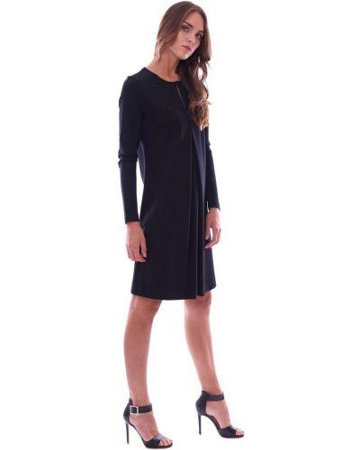 Czarna sukienka elegancka Luckylu