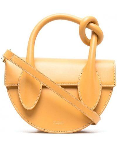 Кожаная сумка - желтая Yuzefi