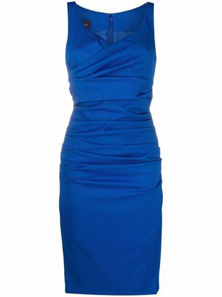 Платье с V-образным вырезом - синее Talbot Runhof