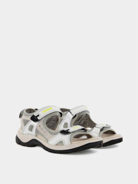 Кожаные сандалии - серые Ecco