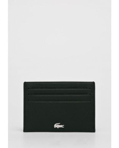 Кошелек кожаный черный Lacoste
