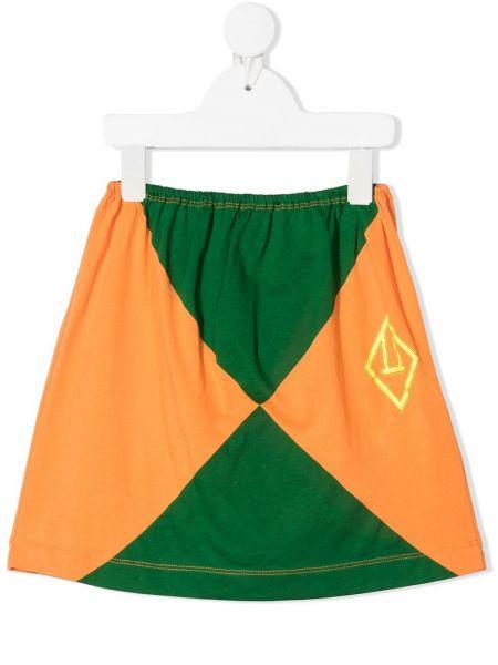 Zielona spódnica ołówkowa bawełniana z printem The Animals Observatory