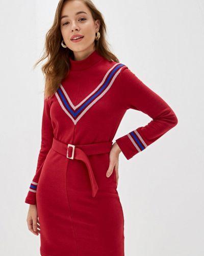 Платье бордовый платье-толстовка Fashion.love.story