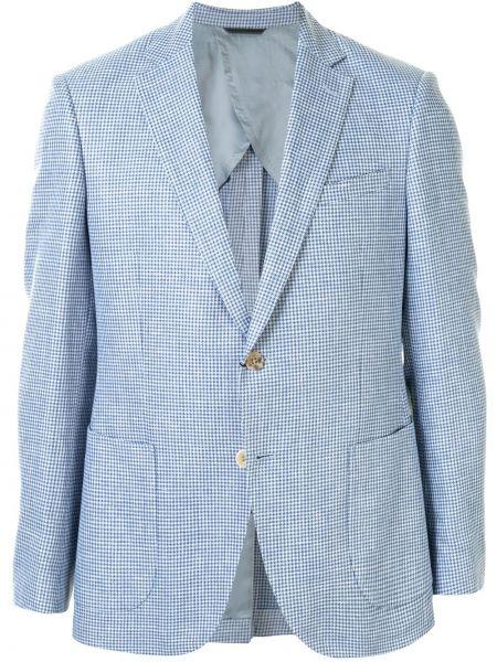 Белый пиджак с заплатками с лацканами с карманами D'urban