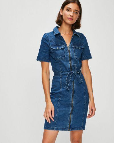 Джинсовое платье мини с карманами Noisy May