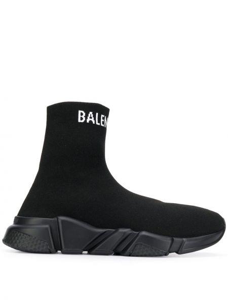 Sneakersy czarne białe Balenciaga