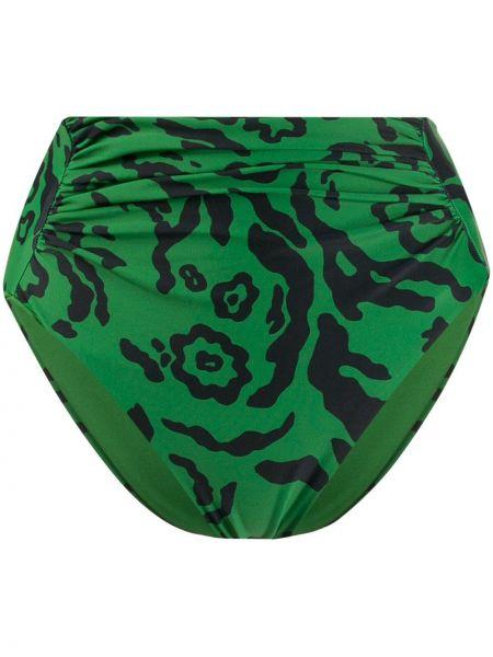 Купальник леопардовые халтер Self-portrait