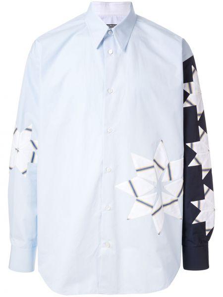 Niebieska koszula bawełniana z długimi rękawami Calvin Klein 205w39nyc