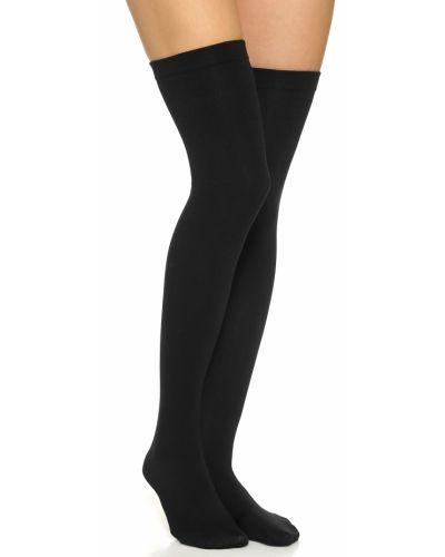 Флисовые черные носки высокие на резинке Plush