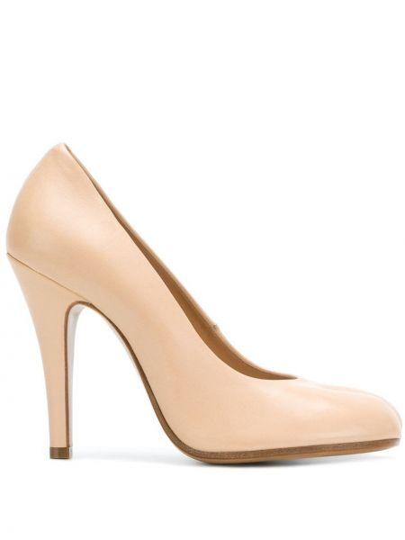 Туфли на каблуке кожаные на высоком каблуке Maison Margiela