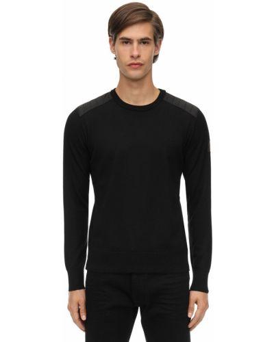 Sweter wełniany - czarny Belstaff