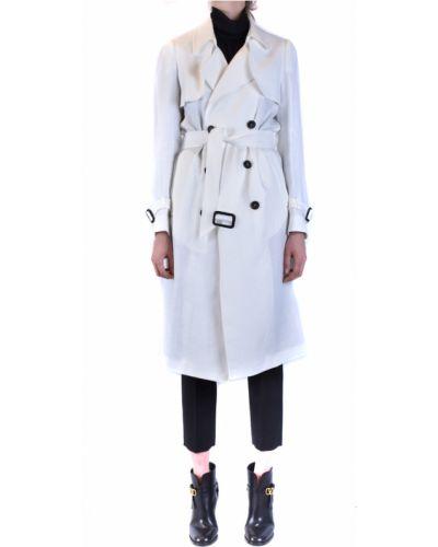 Szary długi płaszcz oversize z długimi rękawami Tagliatore