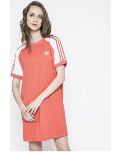 Платье мини из вискозы однотонное Adidas Originals