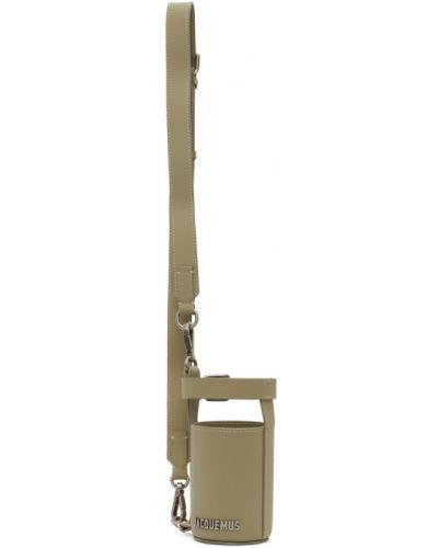 Z paskiem skórzany biały etui na klucze z klamrą Jacquemus