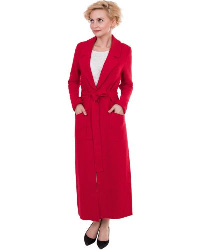 Длинное пальто с поясом прямое J-splash