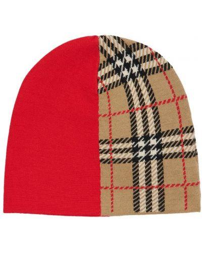 Wełniany kapelusz niejednolita całość Burberry