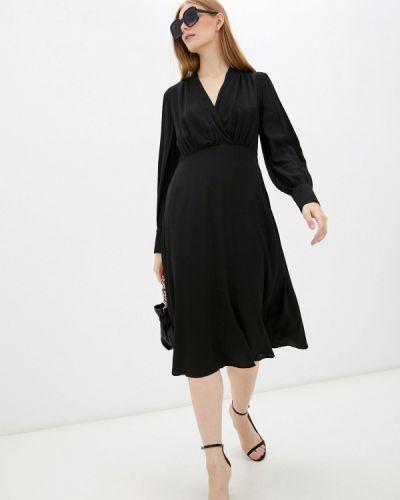 Черное прямое платье United Colors Of Benetton