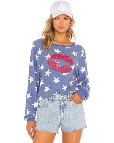 Флисовый свитшот - синий Wildfox Couture