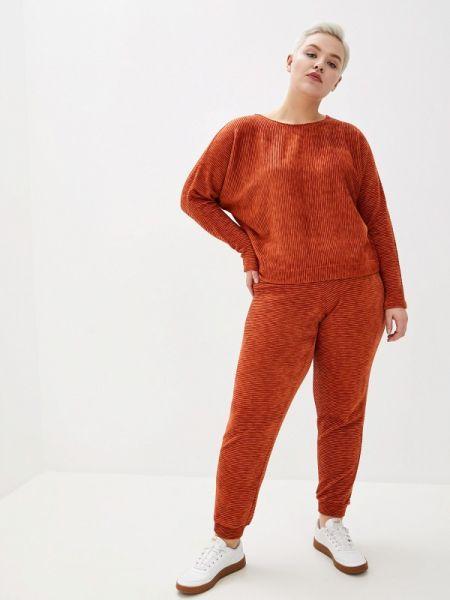 Оранжевый облегающий костюмный брючный костюм Louitex