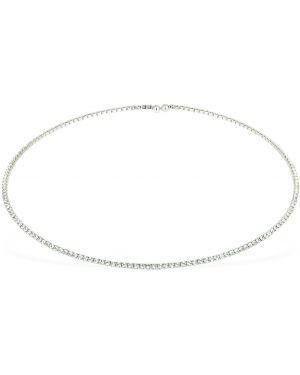 Biały choker srebrny z cyrkoniami Talita