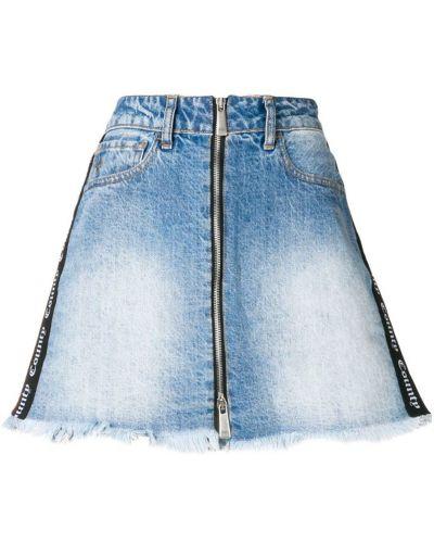 Юбка мини джинсовая с завышенной талией Marcelo Burlon. County Of Milan