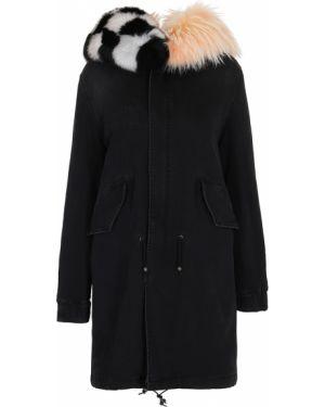 Куртка с капюшоном черная длинная Mr&mrs
