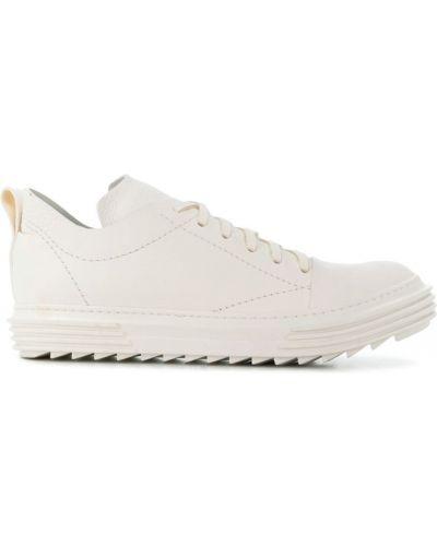 Кожаные кроссовки с логотипом белый Artselab