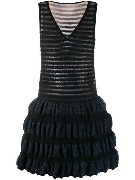 С заниженной талией платье из мохера винтажное без рукавов Alaïa Pre-owned