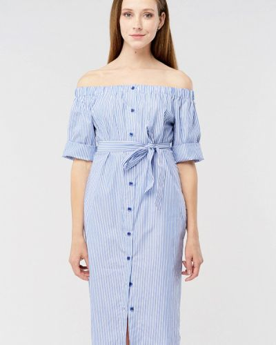 Голубое платье миди Mascot