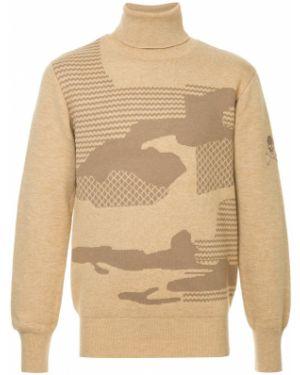 Прямой с рукавами коричневый акриловый свитер Loveless