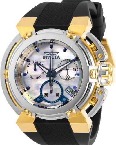 Со стрелками силиконовые белые часы водонепроницаемые Invicta