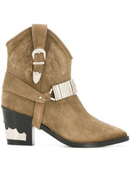 Kowboj buty z ostrym nosem zamszowe Toga