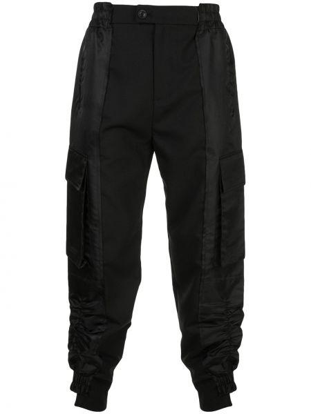 Czarne spodnie wełniane z falbanami Bmuet(te)